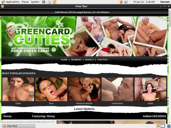 Green Card Cuties Mobile Pass