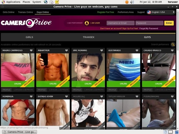 Free Camera Prive Gay Account