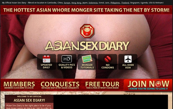 Asian Sex Diary Signup Form