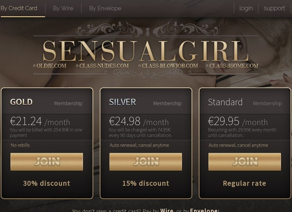 Sensualgirl Member Passwords