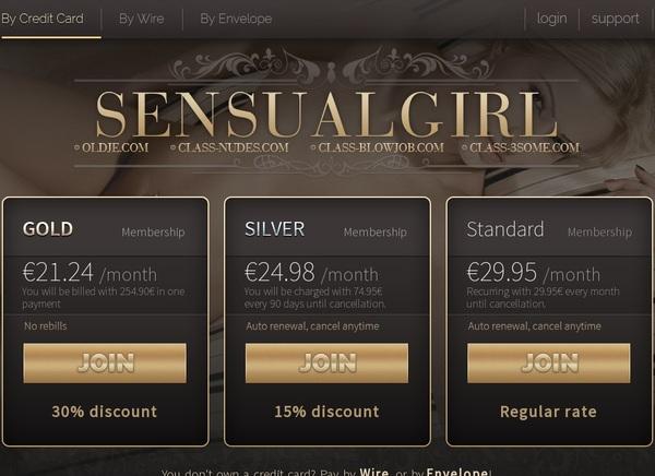 Sensualgirl.com Home Page